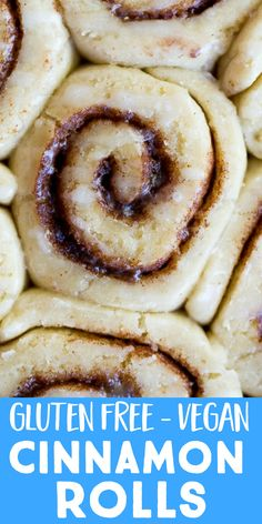 These really are the best gluten free cinnamon rolls! They're soft and tender and also sweet and full of cinnamon flavor. They also happen to be vegan! Perfect for a special weekend breakfast. Best Vegetarian Recipes, Delicious Vegan Recipes, Delicious Desserts, Vegetarian Meals, Gluten Free Cinnamon Rolls, Gluten Free Baking, Cheesecake Desserts, Cheesecake Strawberries, Vegan Breakfast