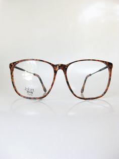 dc72927ee81 Oversized Tortoiseshell Lafont Eyeglasses 1980s Hip Hop Chic Womens Mens  Unisex Amber Dark Black Mottled Wire Horn Rim 80s Eighties Hipster