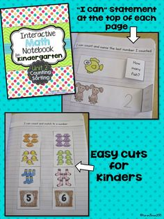 Interactive Math Notebooks for Kindergarten!  My kids love working in their math notebook every day. $
