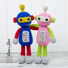 Robby the Robot Amigurumi  PDF Crochet Pattern by oneandtwocompany