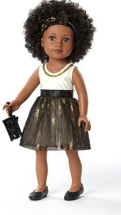 d2b279203af Journey Girls 18 inch Doll Chavonne (White Top with Copper Skirt) Toys R Us