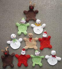 Free Christmas Coaster Pattern - Ravelry