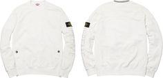 Supreme/Stone Island Crewneck Sweatshirt - White