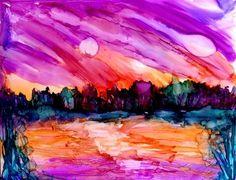 """Summer sky"" - Original Fine Art for Sale - © Kristen Dukat"