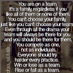 All I can say is work as a team and forget about ur ego. U can have the best players but if dont work as a team it all falls apart. ( VOICE OF EXPERIENCE) points away of winning a championship Cheerleading Quotes, Softball Quotes, Cheer Quotes, Sport Quotes, Sports Sayings, Football Mom Quotes, Cheer Sayings, Football Moms, Sports Memes