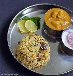Veg Biryani Recipes – Collection of 40 Veg Biryani Varieties Vegetarian Biryani, Veg Biryani, Vegetarian Cooking, Vegetarian Recipes, Veggie Recipes, Lunch Recipes, Indian Food Recipes, Rice Recipes, Cooking Recipes