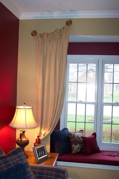 Gathered Panels Decor, Interior, Home, Windows, Interior Design Classes, Types Of Window Treatments, Interior Design, Paneling, Window Treatments