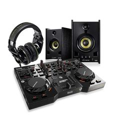 Hercules DJ Starter Kit - Hercules DJ Starter Kit includes DJ Control Instinct controller, DJ G501 Headphones, and XPS 2.0 80 DJ Monitor Speakers. £320.