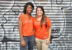 Our LA teens working their orange tees at a Step Up Salon