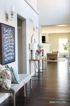 Spring Home Tour - Entryway - Life On Virginia Street