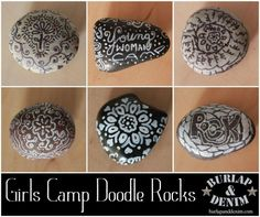 Girls Camp Doodle Rocks ... so cute ... here's the *prayer rock poem* @ http://www.sugardoodle.net/Prayer/My%20Little%20Prayer%20Rock.shtml ... burlapanddenim