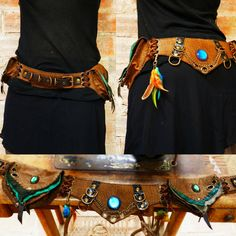 QUETZAL 1 handmade leather utility belt by TximeletaCreations