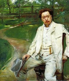 Portrait of the Pianist Conrad Ansorge, 1913 by Lovis Corinth (German 1858-1925)......Conrad Eduard Reinhold Ansorge  (1862-1930) was a German pianist, teacher and composer. He studied at the Leipzig Conservatory between 1880 and 1882, and under Franz Liszt in Weimar in 1885 and 1886.....