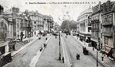 1875 Début de l'Histoire Biarritz, Vintage Photos, Street View, Places, Houses, Basque Country, City Office, Antique Pictures, Nostalgia