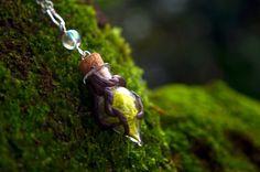 Moss necklace forest necklace unique necklaces by VeinsOfNature