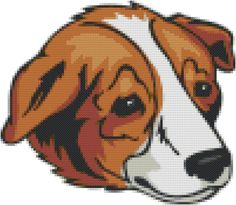 Welsh Sheep Dog Breed Cross Stitch Pattern graph  pattern and tutorial instant…