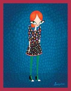 Thom Browne fashion print illustration