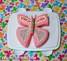 Love this cake!! I made it for my daughters 4th birthday cake and it was a hit, not to mention easy to make! Thanks Liss! @Frills in the Hills