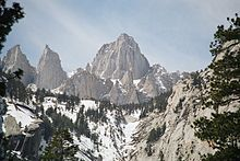 MT. WHITNEY, CA - At 14,505 ft, its the 'highest' point in the 48 contiguous states.  And, its only 84.6 miles away from the 'lowest' point in North America, Death Valley.