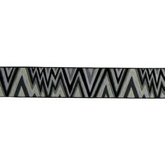 """1 1/2"""" Kaffe Fasset Flame Stitch Ribbon Black/White from @fabricdotcom  From Renaissance Ribbons and designed by Kaffe Fassett, this novelty jacquard ribbon is perfect for apparel trim, home décor trim, quilt trim and crafts!"""