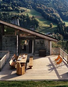 "prefabnsmallhomes:  ""Gallery owner Armel Soyer's chalet in Megève, France.  """