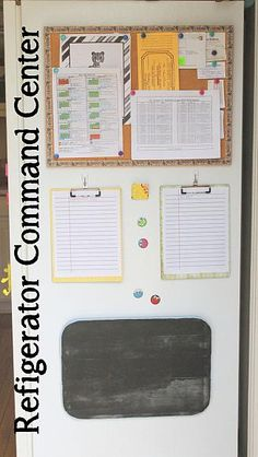 Refrigerator Command Center -- make your own command center with these simple instructions