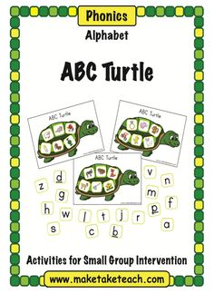 "FREE LANGUAGE ARTS LESSON - ""ABC Turtle"" - Go to The Best of Teacher Entrepreneurs for this and hundreds of free lessons.   http://thebestofteacherentrepreneurs.blogspot.com/2012/07/free-language-arts-lesson-abc-turtle.html"