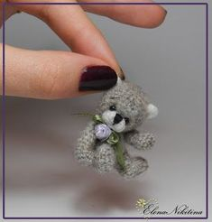 мини-мишка - Tiny amigurumi crochet bear (Inspiration).