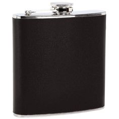 New 6 Oz FLASK Black Wrap Stainless Steel Screw Cap Hip Pocket Liquor Whiskey #Maxam