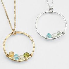 artisan customized birthstone necklace from RedEnvelope.com