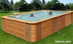 - Piscina in legno Elegance Technypools -  Tecnologia, innovazione, e design...  Per trasformare la vostra piscina fuori terra in un elegante elemento, perfettamente integrabile ad ogni ambiente.  #piscina #legno #design #giardino