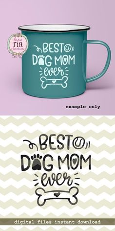 Best dog mom ever, fur dog lover gift idea, paw bone digital cut files, SVG, DXF, studio3 for cricut, silhouette cameo, diy vinyl decals by LoveRiaCharlotte on Etsy #dogshirtssayings