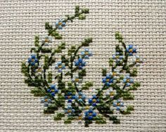 Forget me not Cross Stitch Embroidery Small Cross Stitch, Cross Stitch Flowers, Cross Stitch Designs, Cross Stitch Patterns, Cross Stitching, Cross Stitch Embroidery, Floral Embroidery Patterns, Cross Stitch Boards, Cross Stitch Collection