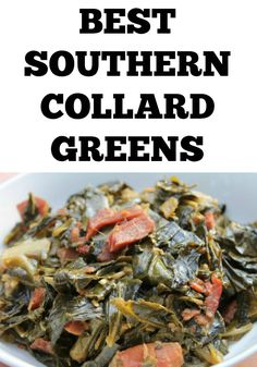 True southern tender collard greens flavored with smokey bacon. We all have that one dish that is pretty much or signature dish. It just so happens that I have several, and collard greens happens t…