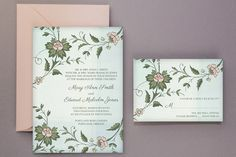 DIY Tutorial: Watercolor Flowers Wedding Invitation