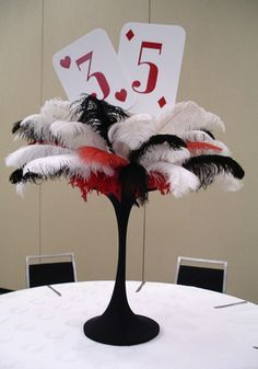 Centerpieces that will create an elegant atmosphere at your casino party! O'Brien Productions 770-422-7200