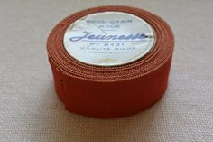 Orange Vintage Grosgrain Ribbon 1 1/2 wide 8 yards by archivetrim, $30.00