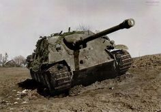 Jagdpanther tank destroyer from Panzergruppe Hudel was one of three knocked out by a U.S. M36 tank destroyer on March 13, 1945 near Kaimeg-Ginsterhain, Germany. Pin by Paolo Marzioli