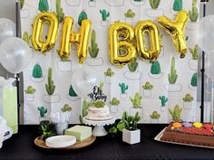 Cactus Themed Baby Shower - Baby Shower Ideas - Cactus Themed Baby Shower The Effective Pictures We Offer You About cactus painting A quality pict - Boy Baby Shower Themes, Baby Shower Gender Reveal, Baby Shower Cakes, Baby Shower Parties, Baby Boy Shower, Baby Shower Decorations, Baby Gender, Baby Cactus, Mini Cactus