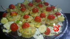 Tortinhas funcionais de couve flor com mix de grãos - Cozinha Simples da Deia