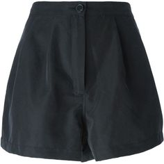 Acne Studios Tailored Shorts (1,125 ILS) ❤ liked on Polyvore featuring shorts, bottoms, clothes - shorts, blue, blue shorts, tailored shorts and acne studios