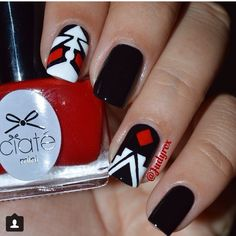 Red and black design