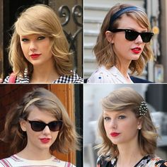 Taylor Swift's New Short Hair Cut -- 4 Ways She's Rocked The Look