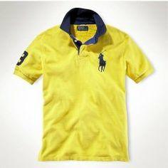 POLO Ralph Lauren Big Pony Polo Yellow, high quality ralph lauren clothing,  t- 3cb1134ed4c