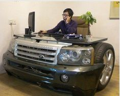 awesome.....dream car or first car then used back end for a couch !!!  #Man #Cave #Garage