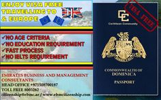 Get Dominican Passport and travel around the world in 118 major countries without Visa!. For details Contact us +971508700187 / citizenship@ebmc.ae  www.ebmcitizenship.com