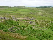 Knocknafenaig (Scottish Gaelic: Cnoc na Fennaig) is a ruined township on the Isle of Mull, Scotland.  Located in the south-western portion of the island known as the Ross of Mull, Knocknafenaig is an extremely well preserved township that shows many characteristics of 19th century and early 20th century living conditions. Although it is believed to have had medieval settlements, almost no evidence remains of these due to their organic nature. Among the many ruins is a well preserved…