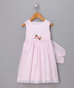 Take a look at this Pink Lace-Trim Dress - Toddler by C.I. Castro & Jayne Copeland on #zulily today!