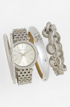 Free shipping and returns on MICHAEL Michael Kors Michael Kors 'Darci' Round Bracelet Watch, 39mm at Nordstrom.com. Bright crystals illuminate the sleek bezel of an elegant multi-link bracelet watch designed with a slender silhouette.