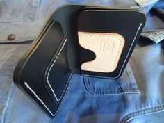 Leather long wallet 'The Carpenter' Handmade, hand stitched. by SleepingDogsLeather on Etsy